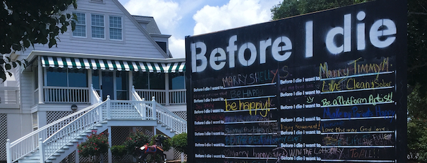 "The Bellamy Law Firm Sponsors ""Before I Die"" Exhibit"