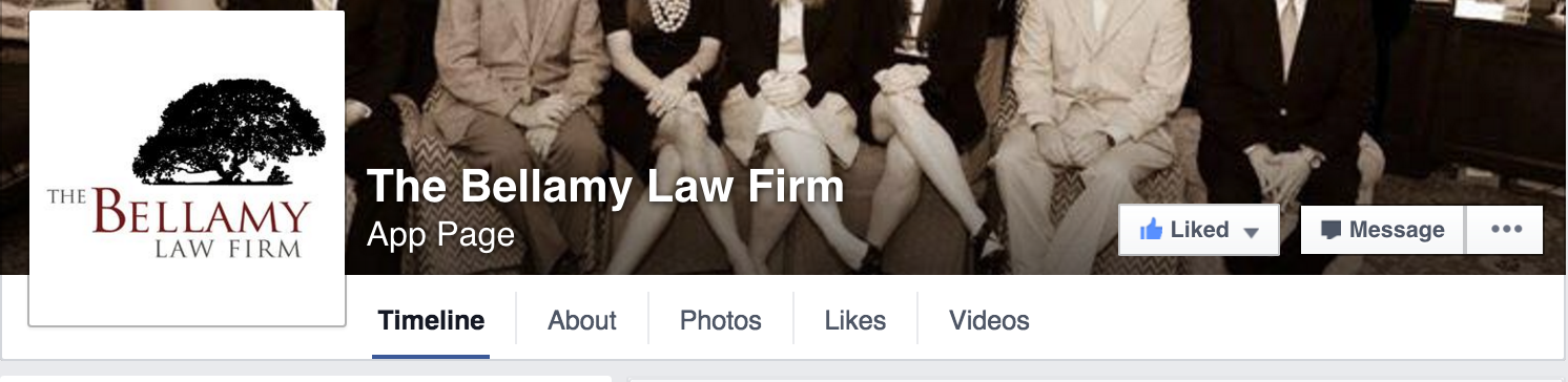 The Bellamy Law Firm Has A Facebook!